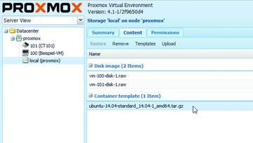 Appliance download proxmox
